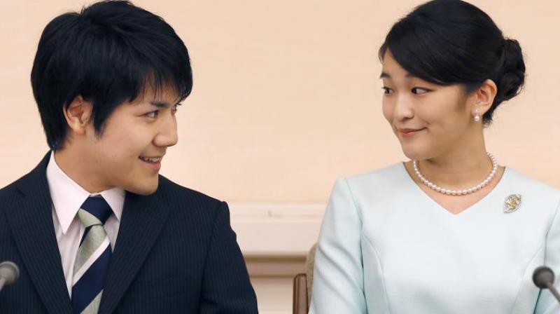 Japan's Princess Mako and fiance Kei Komuro. (Photo: AP)