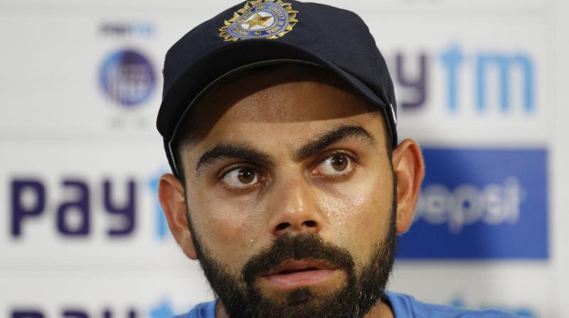 """""""The thing I said before the first Test (with him being friends with Australians), that has certainly changed and you won't hear me say that ever again, said Virat Kohli in the press conference after India's series-clinching win against Australia in Dharamsala. (Photo: AP)"""