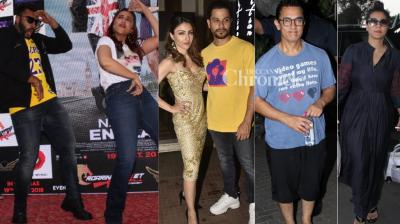 Stars all around: B-Town celebrities were clicked at various parts of Mumbai on Wednesday. (Photos: Viral Bhayani)