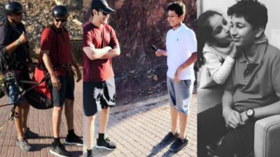 Tollywood superstar Mahesh Babu is currently on a relaxing vacation with his family in Zighy, Oman and pictures from their trip have made its way to social media.