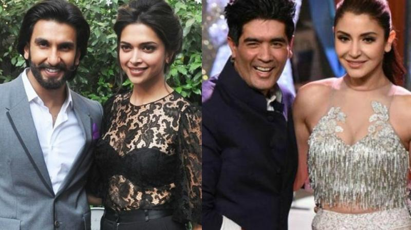 Deepika and Ranveer, Manish Malhotra and Anushka Sharma.