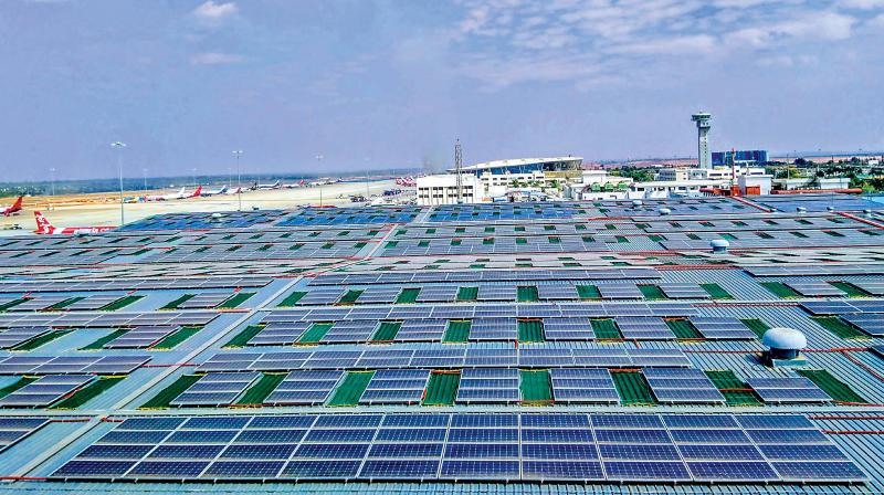 Rooftop solar power inaugurated at the Kempegowda International Airport in Bengaluru on Wednesday — KPN