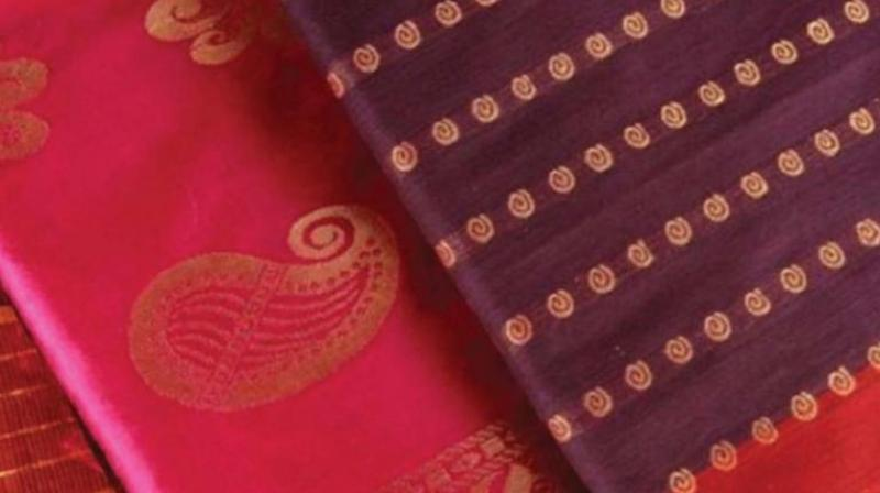 Weavers take almost 15 days to complete elaborately hand-woven saree with intricate art works. (Representational Image)