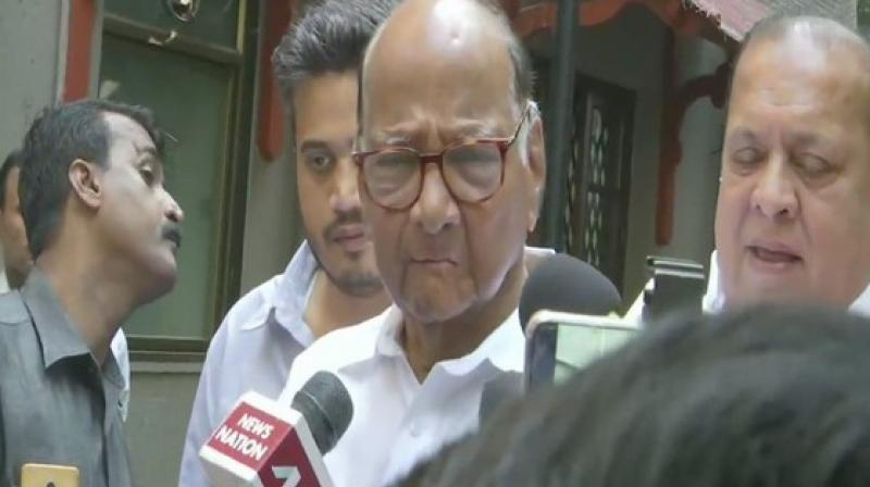 Pawar will be chairing party's core group meeting here to discuss the current political situation in the state after BJP despite being the single largest party expressed its inability to form the government owing to its differences with ally Shiv Sena. (Photo: ANI)