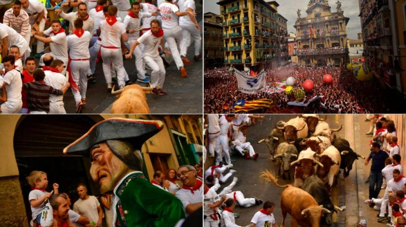 Revellers from around the world arrive in Pamplona every year to take part, during the eight days of the running of the bulls. (Photo: AP)