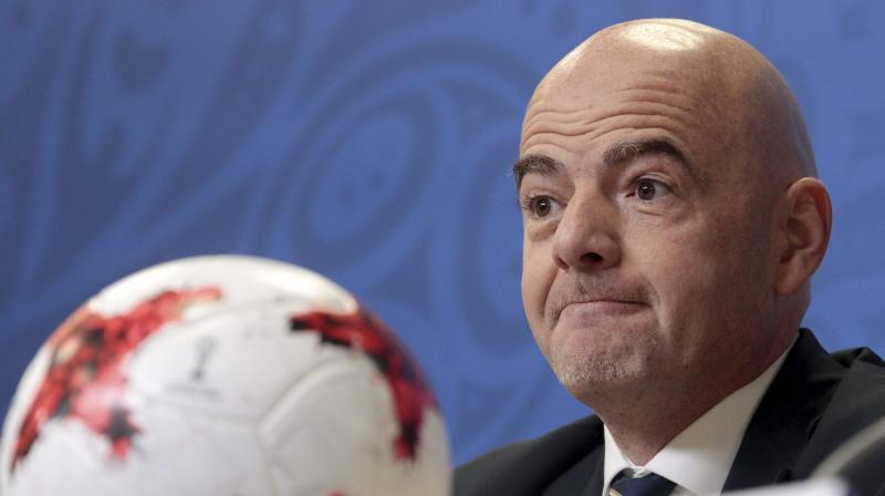 Infantino told Russian president Vladimir Putin in a meeting at the Kremlin last week that the world