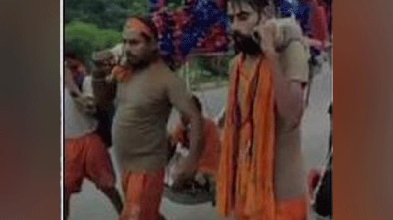 The Kanwarias (pilgrims) visit Haridwar, Gaumukh and Gangotri in Uttarakhand and Sultanganj in Bihar to fetch holy waters of River Ganga.  (Photo: ani)