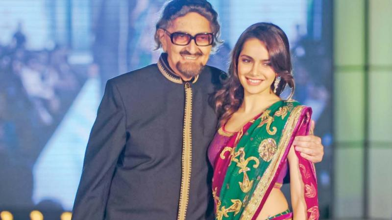 Alyque Padamsee with Shazahn Padamsee at a city event in a file photograph
