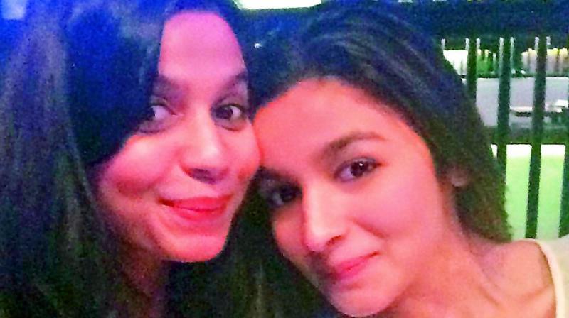Shaheen Bhatt and Alia Bhatt.