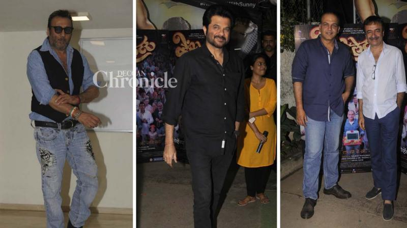 Priyanka Chopra makes her debut as a producer with the Marathi film 'Ventilator' and several celebrities from Bollywood and other fields came out to watch the film in a special screening on Thursday. (Photo: Viral Bhayani)