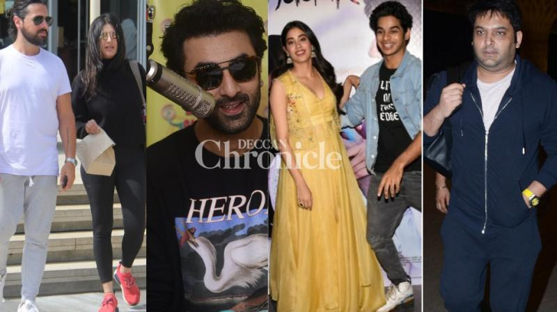 Stars from the film industry were captured by the paparazzi at various locations in Mumbai on Tuesday. (Photos: Viral Bhayani)