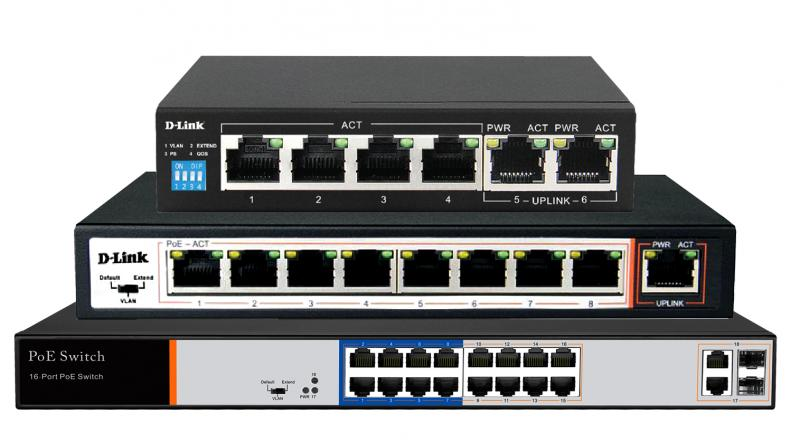 Customers can connect PoE compatible devices to these switches without using additional power supply.
