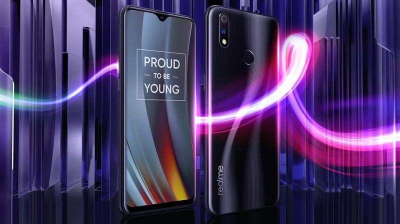 The Realme 3 Pro sports a 6.3-inch FHD+ display and a dewdrop notch.