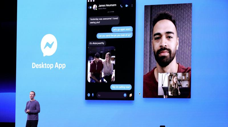 The new design showcases Facebook's messaging app, online marketplace and video-on-demand site, while giving greater prominence to the popular photo-driven Stories feature. (Photo: AP)