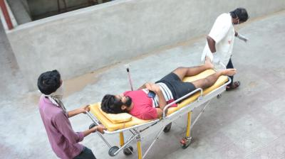A man is taken to a hospital after falling ill due to the gas leak in Vizag. DC original