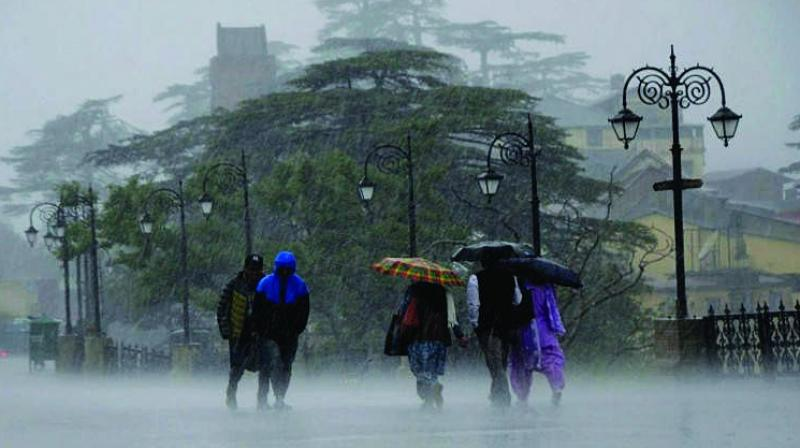 """""""All climatic situations are conducive for more rains over the city till the end of this week. However, the intensity of rains will vary across the city,"""" said Mr Raja Rao Boddu, meteorologist, IMD Hyderabad."""