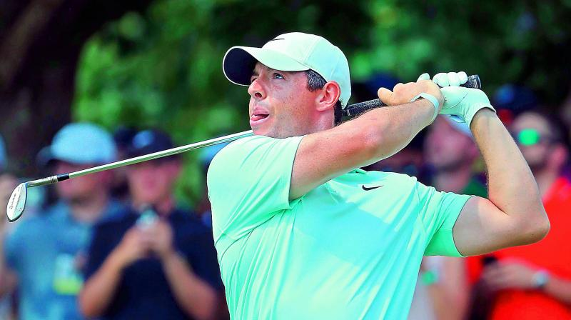 Rory McIlroy of Northern Ireland plays a shot during the final round at St Jude Invitational. (Photo: AFP)