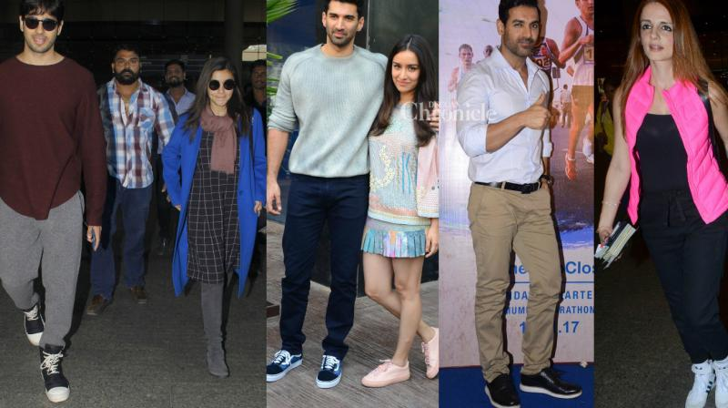 Several Bollywood celebrities were spotted by paparazzi at various locations in Mumbai on Thursday. (Photo: Viral Bhayani)