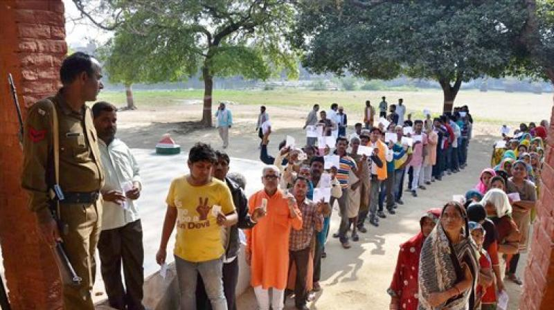 Election officials put the voting percentage till early afternoon at 40 to 50 in most states. (Photo: PTI/File)