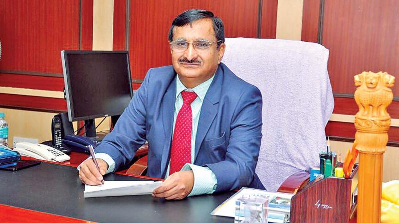 M.K. Surappa assumes charge as Anna University vice-chancellor on Thursday.(Photo: DC)