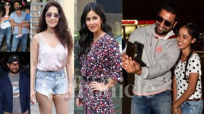 Bollywood celebrities like Katrina Kaif, Aamir Khan, Vicky Kaushal, Nushrat Bharucha, Kareena Kapoor Khan, Taimur, Saif Ali Khan, Raveena Tandon and others were spotted in the city of dreams, Mumbai. (Photos: Viral Bhayani)
