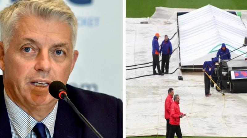 Several teams have criticised the ICC for not keeping reserve days for every match in the league after three games were washed out, the most ever recorded in a single World Cup tournament. (Photo: PTI/ ICC twitter)