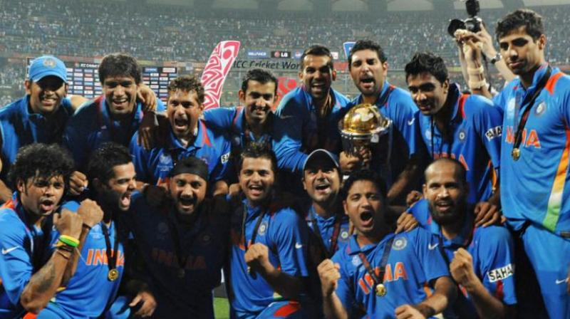 Kohli after winning the World Cup title said that the team has won the cup for the legend Tendulkar and as he carried the burden of a nation on his shoulders for 28 years. (Photo:AFP)