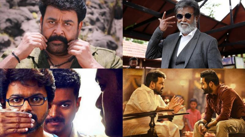 Three of the films starred Mollywood superstar Mohanlal in the lead role.