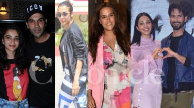 Bollywood celebrities like Malaika Arora, Shahid Kapoor, Kiara Advani, Rajkummar Rao, Priyanka Chopra and others were spotted in the city of dreams, Mumbai. (Photos: Viral Bhayani)
