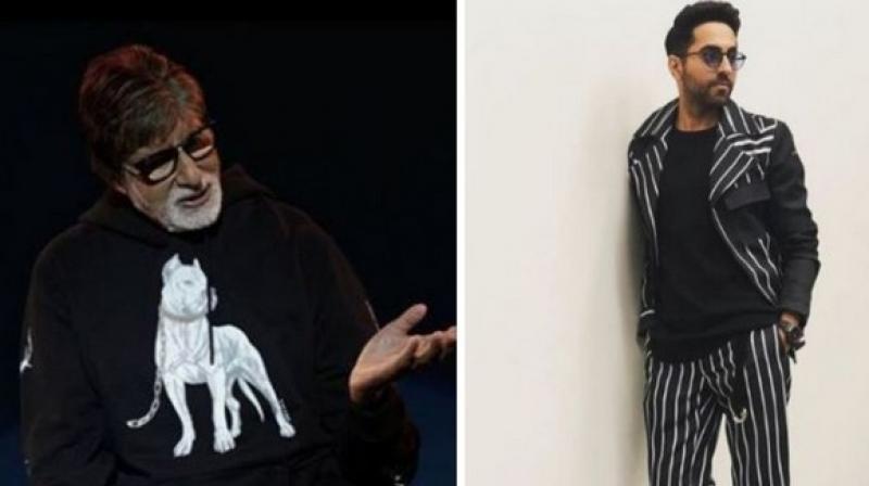 Amitabh Bachchan and Ayushmann Khurrana. (Photo: ANI)