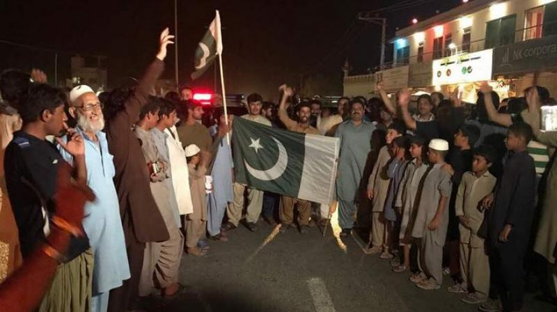 Ghafoor also posted a video showing people in Srinagar purportedly celebrating Pakistan's victory over India. (Photo: Twitter)