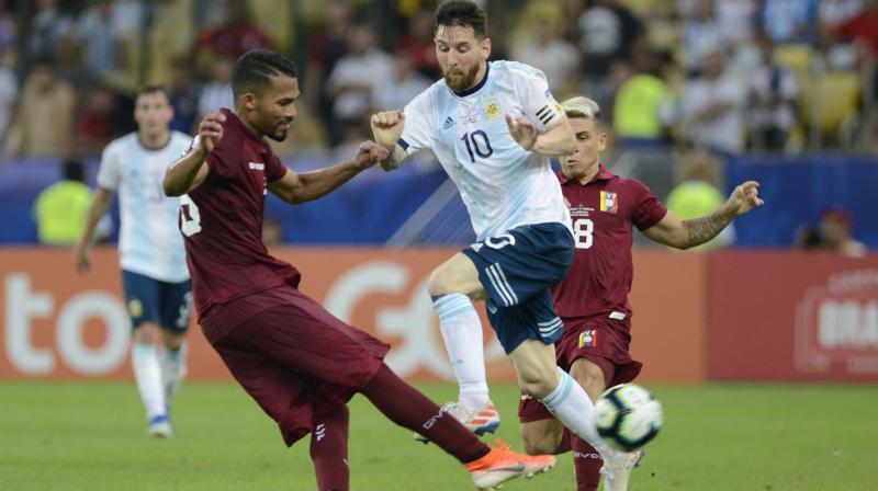 Messi Vs Venezuela (Photo: AP)