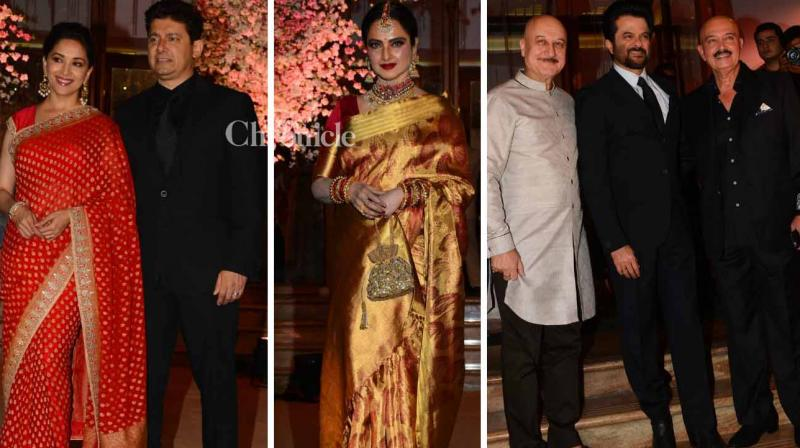 Celebrity manager Rikku Rakesh Nath's daughter Shaina Nath got married on Thursday and several Bollywood stars were in attendance for a gathering. (Photo: Viral Bhayani)