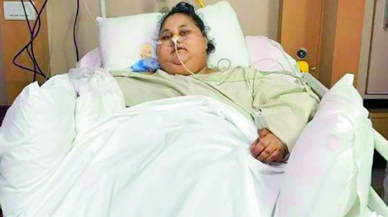 According to doctors who were treating Ms Ahmed at Burjeel Hospital, she had shown signs of improvement.