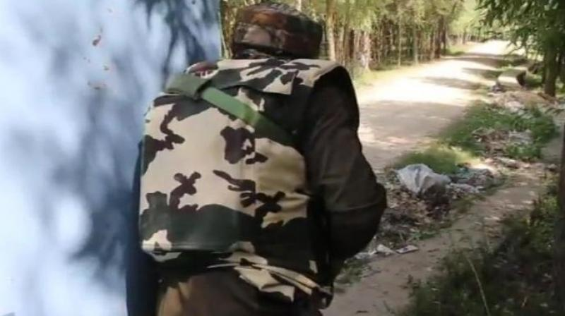 Acting on a tip-off about the presence of militants in Suthu Kothair locality of Nowgam, security forces launched a cordon and search operation in the early hours, a police official said. (Representational Image | ANI)