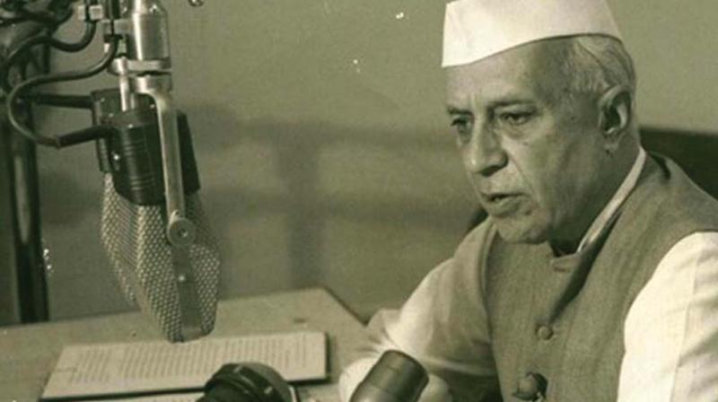 First Prime Minister, Jawaharlal Nehru.
