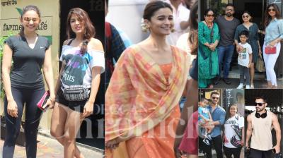 Bollywood celebrities like Shilpa Shetty Kundra, Alia Bhatt, Aayush Sharma, Arpita Khan Sharma, Kunal Kemmu and others spotted in the city of dreams, Mumbai. (Photos: Viral Bhayani)