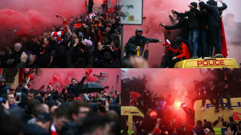 Image result for as roma vs liverpool fan