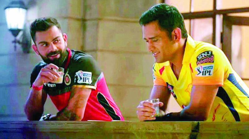 M.S. Dhoni and Virat Kohli