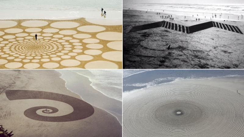 American sand artist Jim Denevan creates exceptional art through geometrical designs that need to be viewed aerially to understand the idea behind them. (Photo: Facebook/JimDenevan)