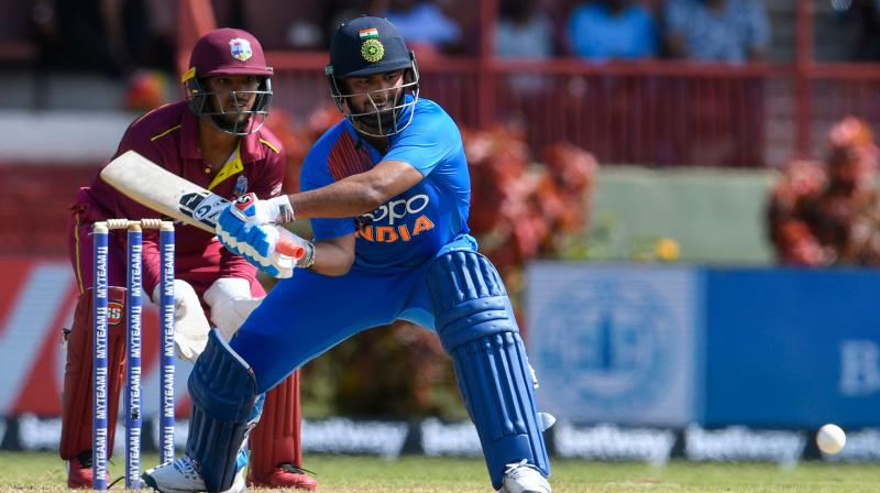Rishabh Pant's unbeaten 65 off 42 helped India to white-wash the Caribbean side in the three-match series. (Photo:AFP)