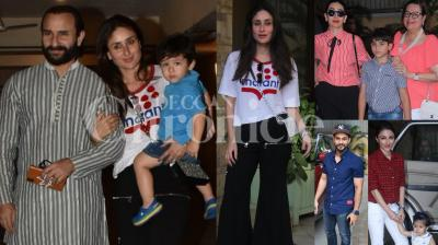 Kareena Kapoor Khan and Saif Ali Khan's little one Taimur Ali Khan will be turning two soon. The couple invited their family and close friends for a pre-birthday party for son Taimur Ali Khan on Friday evening at a plush hotel in Mumbai. Check out photos here. (Pictures: Viral Bhayani)