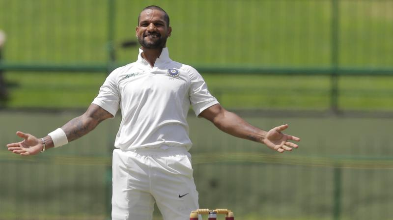 Shikhar Dhawan stayed and scored his second hundred of this series off 107 balls. (Photo: AP)