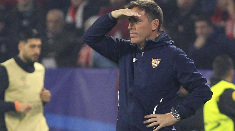 Several Sevilla players had hailed Berizzo's powers of motivation to orchestrate their second-half fightback against Liverpool. (Photo: AFP)