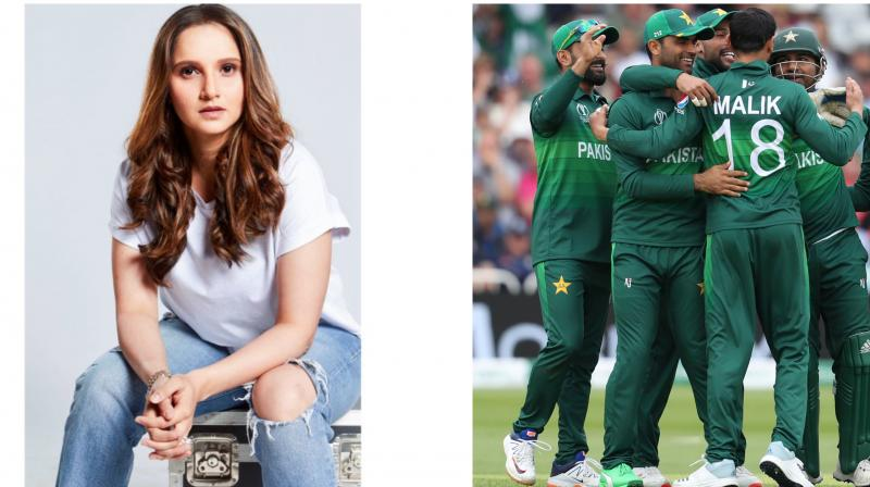 Even Pakistani cricketer, Shoaib Malik's wife and Indian tennis ace, Sania Mirza took to twitter and congratulated Malik and his team-mates for their outstanding display. (Photo: AP/twitter)