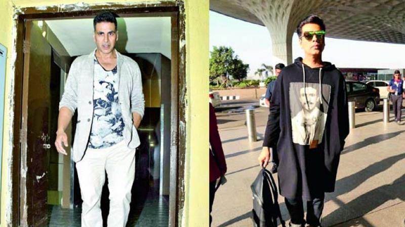 Karan Johar and Akshay Kumar.