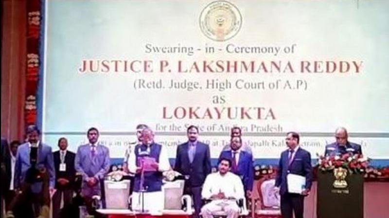 Andhra Pradesh: Justice P Lakshman Reddy sworn in as first Lokayukta of state