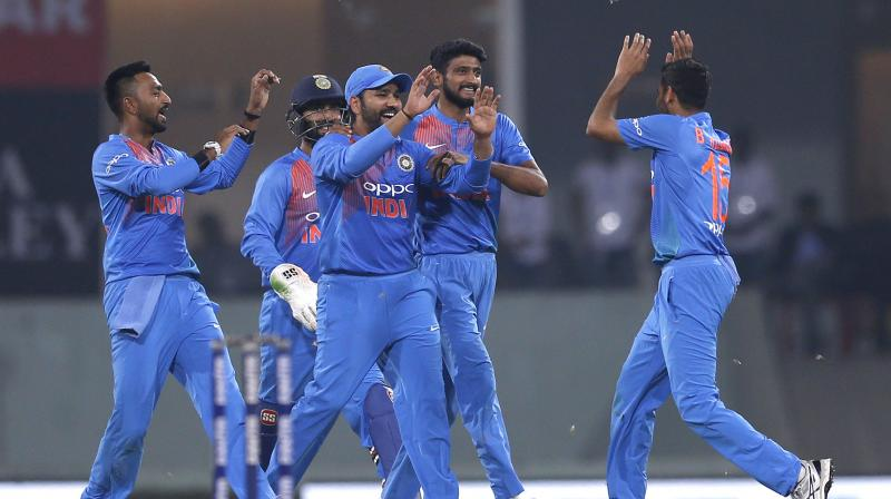 All four bowlers, including Kuldeep Yadav and Khaleel Ahmed finished with four wickets each.(Photo: AP)