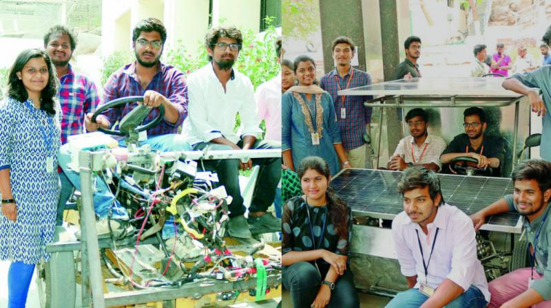Around 200 projects implemented by BTech and MTech students were on the display as posters and prototypes.