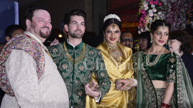 Neil Nitin Mukesh and Rukmini Sahay hosted a grand wedding reception on Friday.